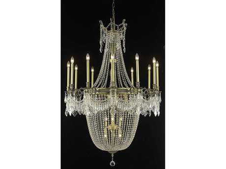Elegant Lighting Esperanza Royal Cut Antique Bronze & Crystal 22-Light 40'' Wide Grand Chandelier