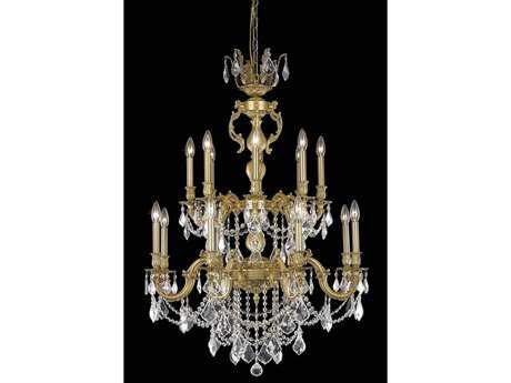 Elegant Lighting Marseille Royal Cut French Gold & Crystal 16-Light 32'' Wide Grand Chandelier
