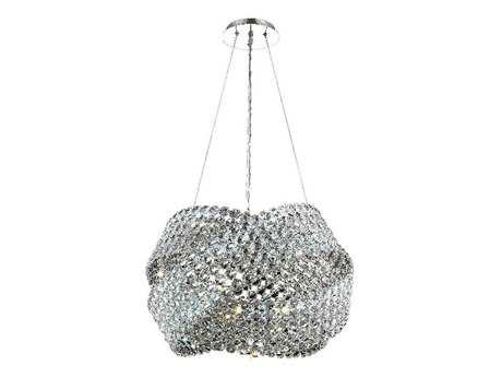 Elegant Lighting Electron Elegant Cut Chrome & Crystal Five-Light 20'' Wide Pendant