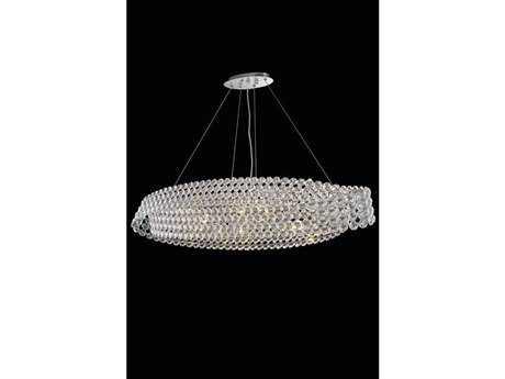 Elegant Lighting Electron Elegant Cut Chrome & Crystal Ten-Light 12'' Wide Pendant