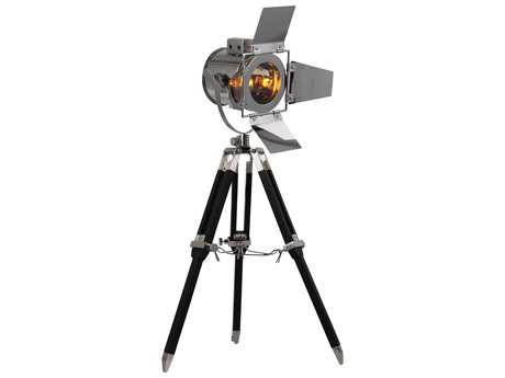 Elegant Lighting Ansel Tripod Chrome & Black Table Lamp