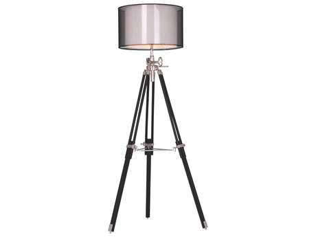 Elegant Lighting Ansel Tripod Chrome & Black Floor Lamp