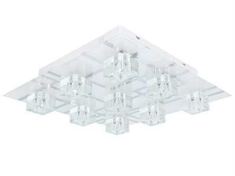 Eglo Ramazzino White Nine-Light 22'' Wide LED Flush Mount Light