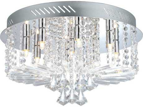 Eglo Ornella Chrome Nine-Light 18'' Wide Flush Mount Light