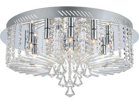 Eglo Ornella Chrome 15-Light 24'' Wide Flush Mount Light