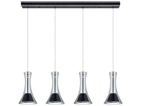 Eglo Musero Matte Nickel Four-Light LED Island Light