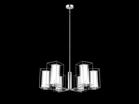 Eglo Loncino I Chrome Six-Light 33'' Wide Chandelier