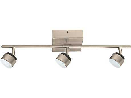 Eglo Armento Matte Nickel Three-Light 23'' Long LED Track Light