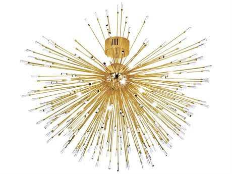 Eglo Vivaldo Gold Plated 35-Light 56'' Wide Semi-Flush Mount Light