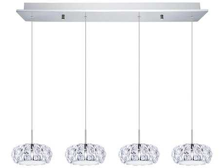 Eglo Corliano Chrome Four-Light 36'' Long LED Island Light