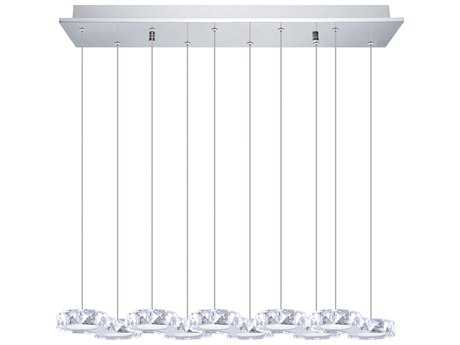 Eglo Corliano Chrome Ten-Light 30'' Long LED Island Light