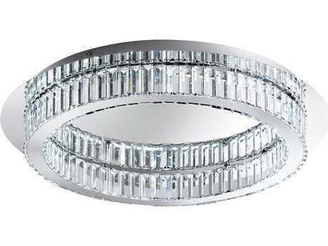 Eglo Corliano Chrome 12-Light 28'' Wide LED Semi-Flush Mount Light