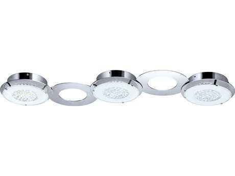 Eglo Privero I Chrome Three-Light 38'' Wide LED Semi-Flush Mount Light