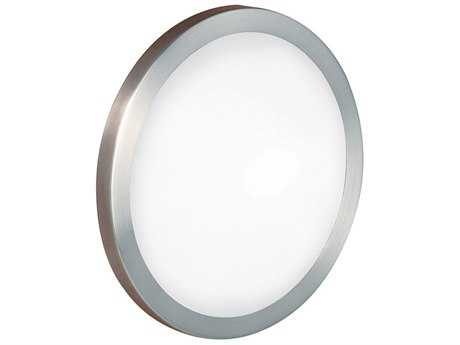 Eglo Arezzo Matte Nickel 14'' Wide Flush Mount Light