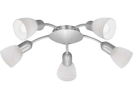 Eglo Dakar Matte Nickel Five-Light 19'' Wide Flush Mount Light