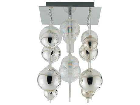 Eglo Morfeo Chrome 8'' Wide Semi-Flush Mount Light