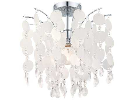 Eglo Fedra Chrome 16'' Wide Semi-Flush Mount Light