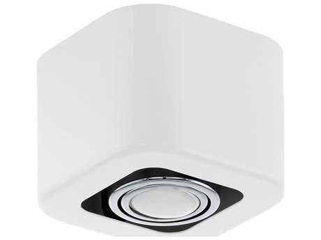 Eglo Toreno Glossy White & Chrome Flush Mount Light