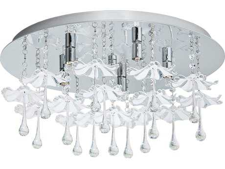 Eglo Ocondo Chrome Five-Light 20'' Wide Flush Mount Light