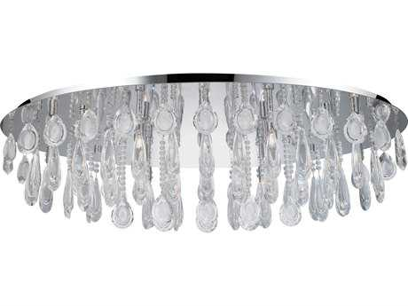 Eglo Calaonda Chrome Ten-Light 24'' Wide Flush Mount Light
