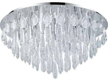 Eglo Calaonda Chrome Ten-Light 27'' Wide Flush Mount Light
