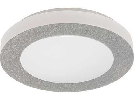 Eglo Carpi Chrome 12'' Wide LED Flush Mount Light
