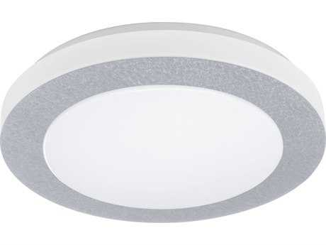 Eglo Carpi Chrome 16'' Wide LED Flush Mount Light