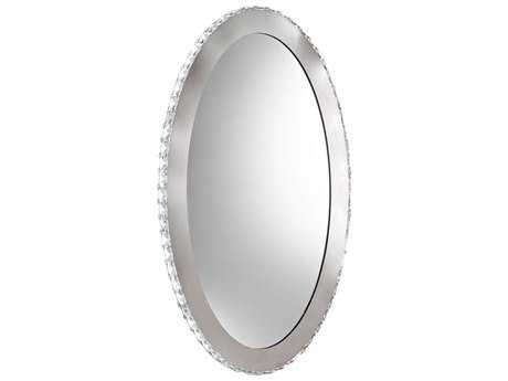 Eglo Toneria 20W x 32H Oval Chrome LED Wall Mirror