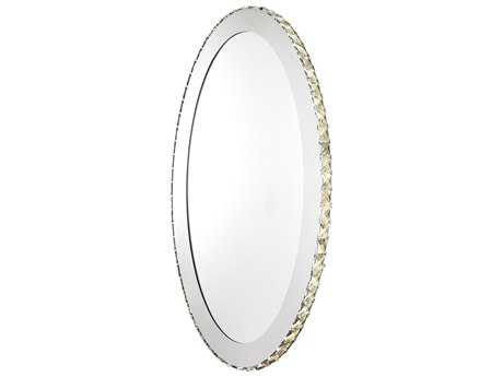 Eglo Toneria 25.5W x 32H Oval Chrome LED Wall Mirror