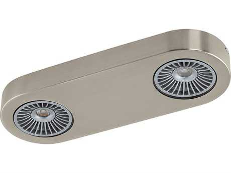 Eglo Montale Matte Nickel Two-Light 13'' Wide LED Flush Mount Light