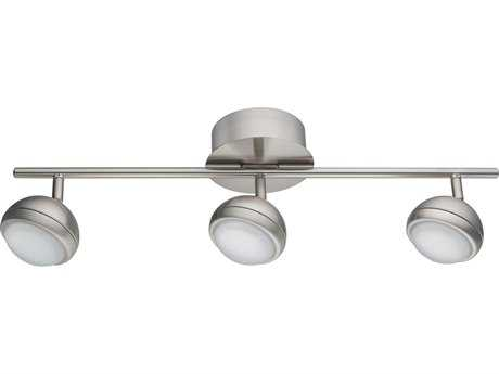 Eglo Lombes I Matte Nickel Three-Light 23'' Long LED Track Light