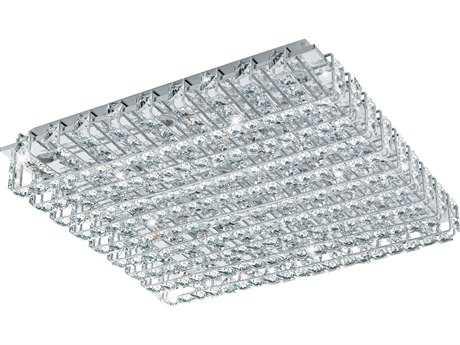 Eglo Lonzaso Chrome 16-Light 20'' Wide LED Semi-Flush Mount Light