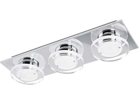 Eglo Cisterno Chrome Three-Light LED Vanity Light