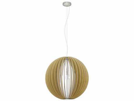 Eglo Cossano Matte Nickel & Maple 28'' Wide Pendant Light