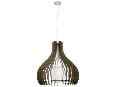 Eglo Tindori Dark Brown Wood 24'' Wide Pendant Light