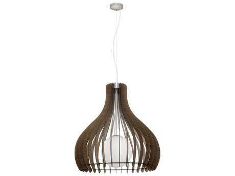 Eglo Tindori Dark Brown Wood 31.5'' Wide Pendant Light