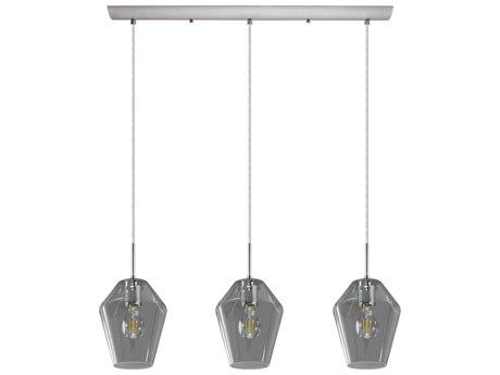 Eglo Murmillo Matte Nickel Three-Light 30'' Long Island Light