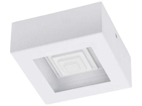 Eglo Ferreros White 6'' Wide LED Flush Mount Light
