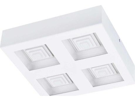 Eglo Ferreros White 11'' Wide LED Flush Mount Light