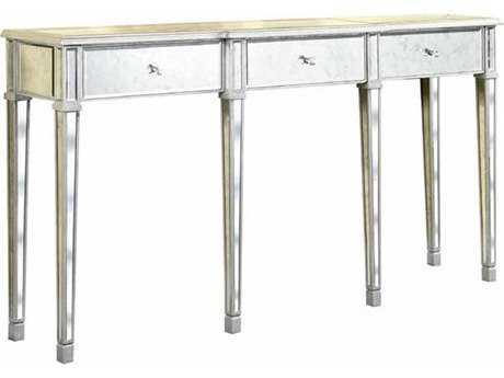Elegant Lighting Florentine Silver & Antique Mirror 70''L X 15''W Rectangular Three Drawer Console Table