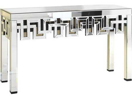 Elegant Lighting Modern Clear Mirror 52''L x 16''W Rectangular Console Table
