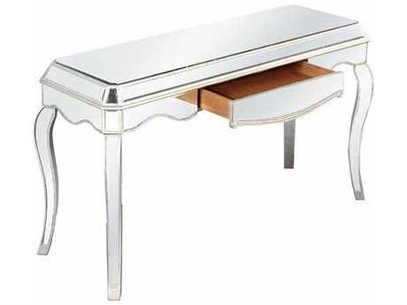 Elegant Lighting Camille Silver & Clear Mirror 52''L x 19''W Rectangular One Drawer Console Table