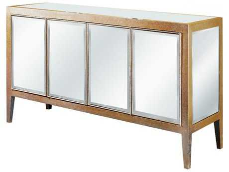 Elegant Lighting Mirage Silver & Clear Mirror 60''L x 18''W Four Door Buffet