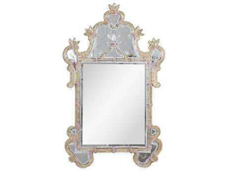 Elegant Lighting Murano 30.5''W x 48''H Gold Wall Mirror