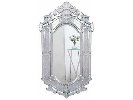Elegant Lighting Venetian 28''W x 48''H Clear Wall Mirror