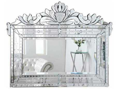 Elegant Lighting Venetian 59''W x 45''H Clear Wall Mirror