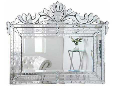 Elegant Lighting Venetian 59''W x 45''H Clear Wall Mirror