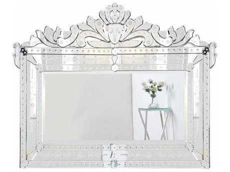 Elegant Lighting Venetian 42.5''W x 32''H Clear Wall Mirror