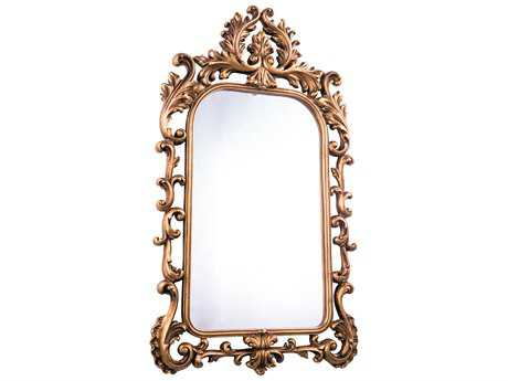Elegant Lighting Antique 27''W x 48''H Gold Leaf Wall Mirror