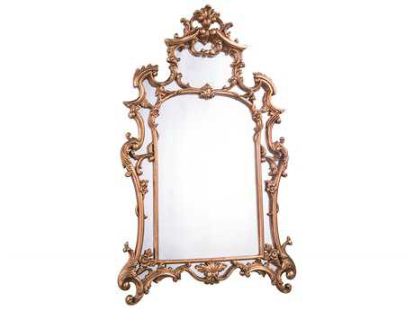 Elegant Lighting Antique 29''W x 48''H Gold Leaf Wall Mirror